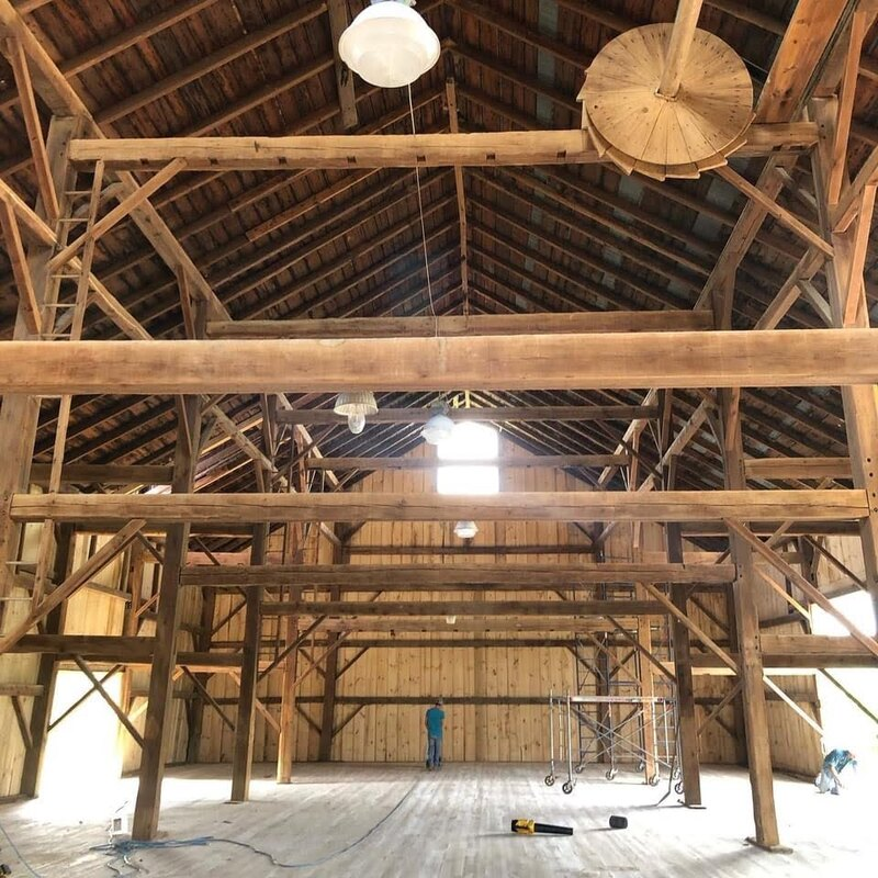 Timber barn restoration for a wedding venue.